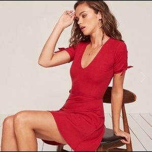 Reformation Red Skater Dress
